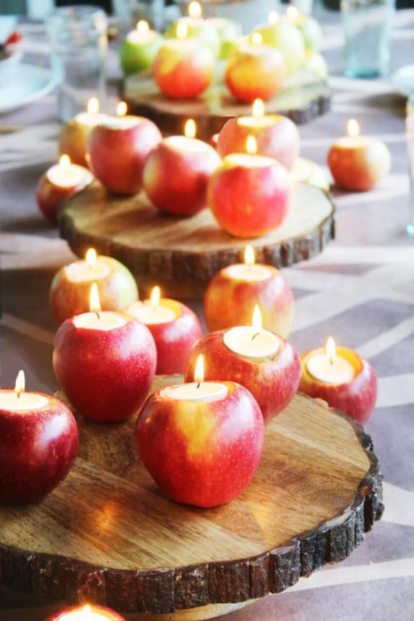 Candles and apples are the perfect combo.