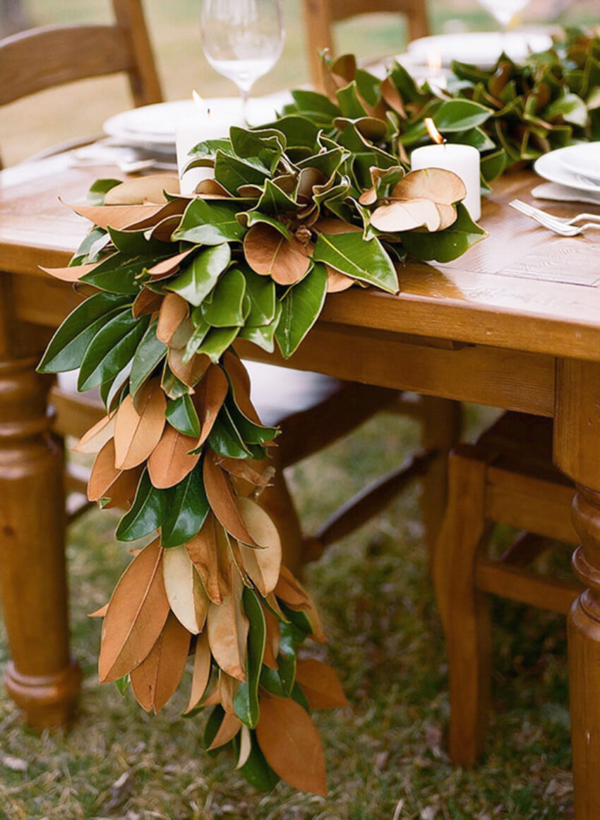 Magnolia leaves will bring a bit of nature indoors.