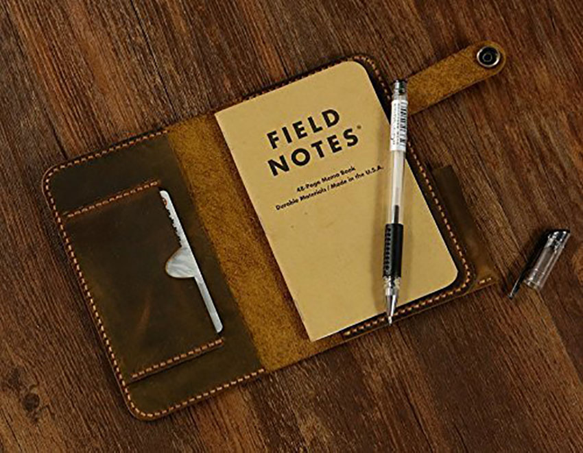 Leather notepad for father's day