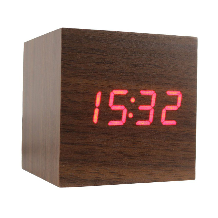 Alarm clock wood gift for dad