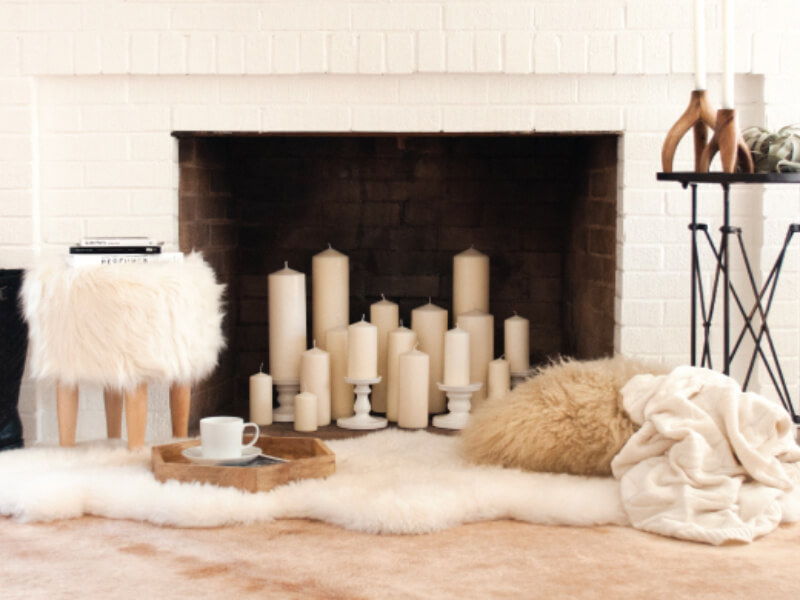 10 Creative Decorating Ideas for a Faux Fireplace