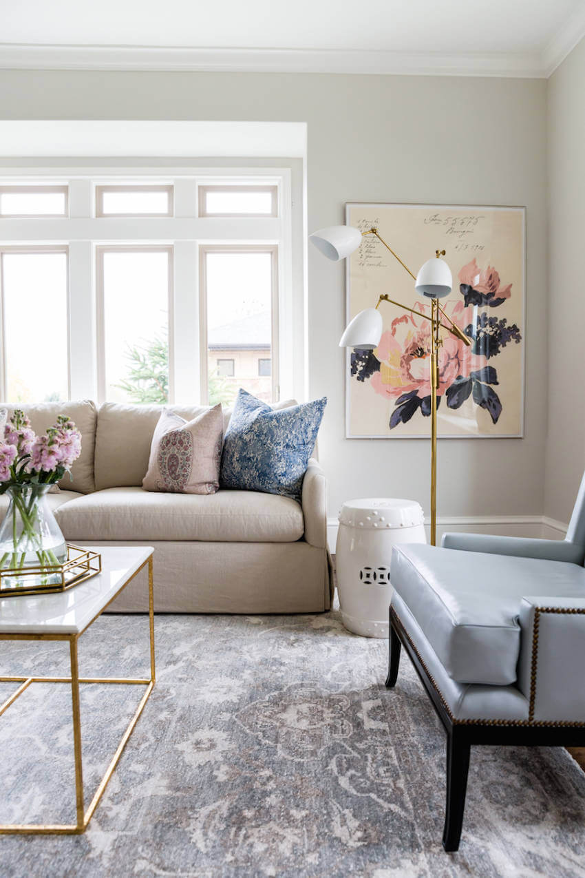 If you're not going for the long term decor, an artwork can be the answer!