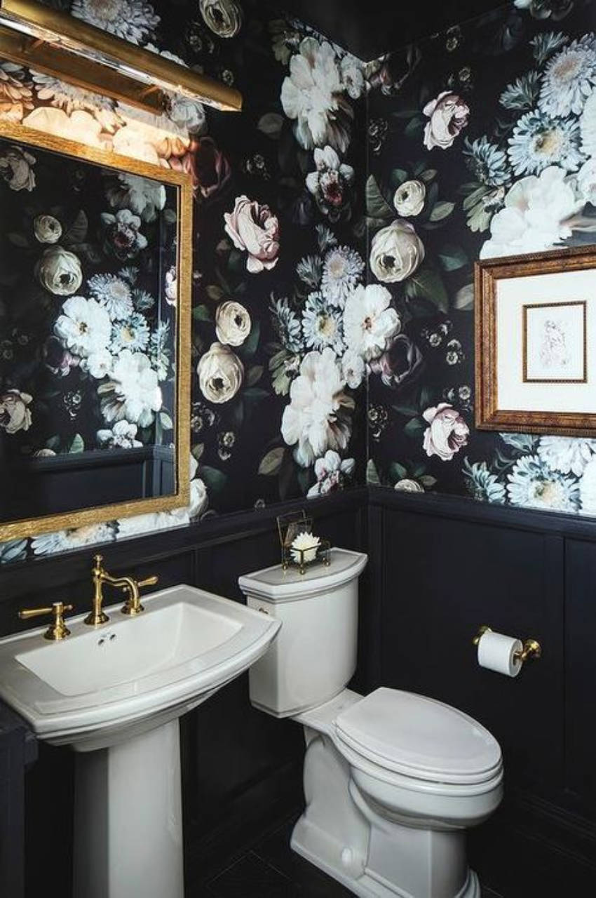 Painting the walls with big, bold flowers is an awesome choice as well!