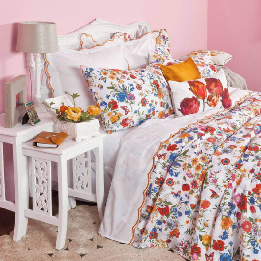 Decorating with your bedding is a simple, but beautiful choice!