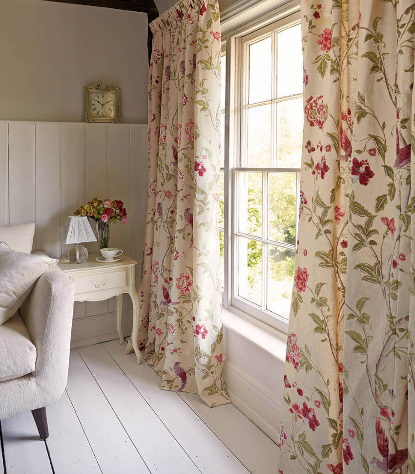Floral curtains are a lovely addition to any room!