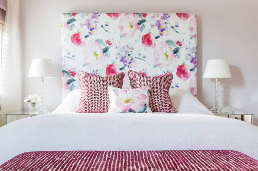 You can DIY a headboard with your favorite floral print!