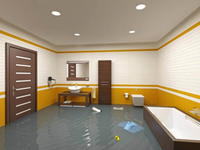 A flooded basement can lead to serious foundation problems.