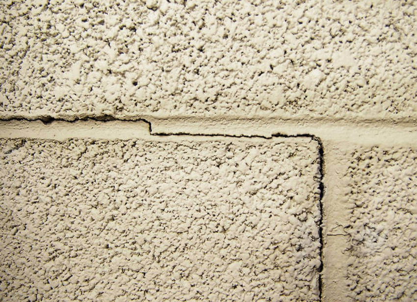 Cracks on your wall can be a sign of foundation problems.