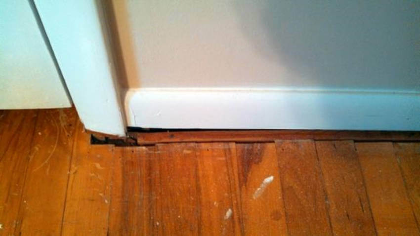 This type of gap can be an indication your foundation needs inspection.