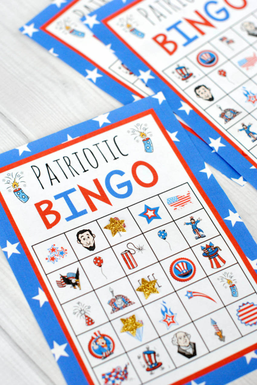 Patriotic bingo to play with all of your guests.