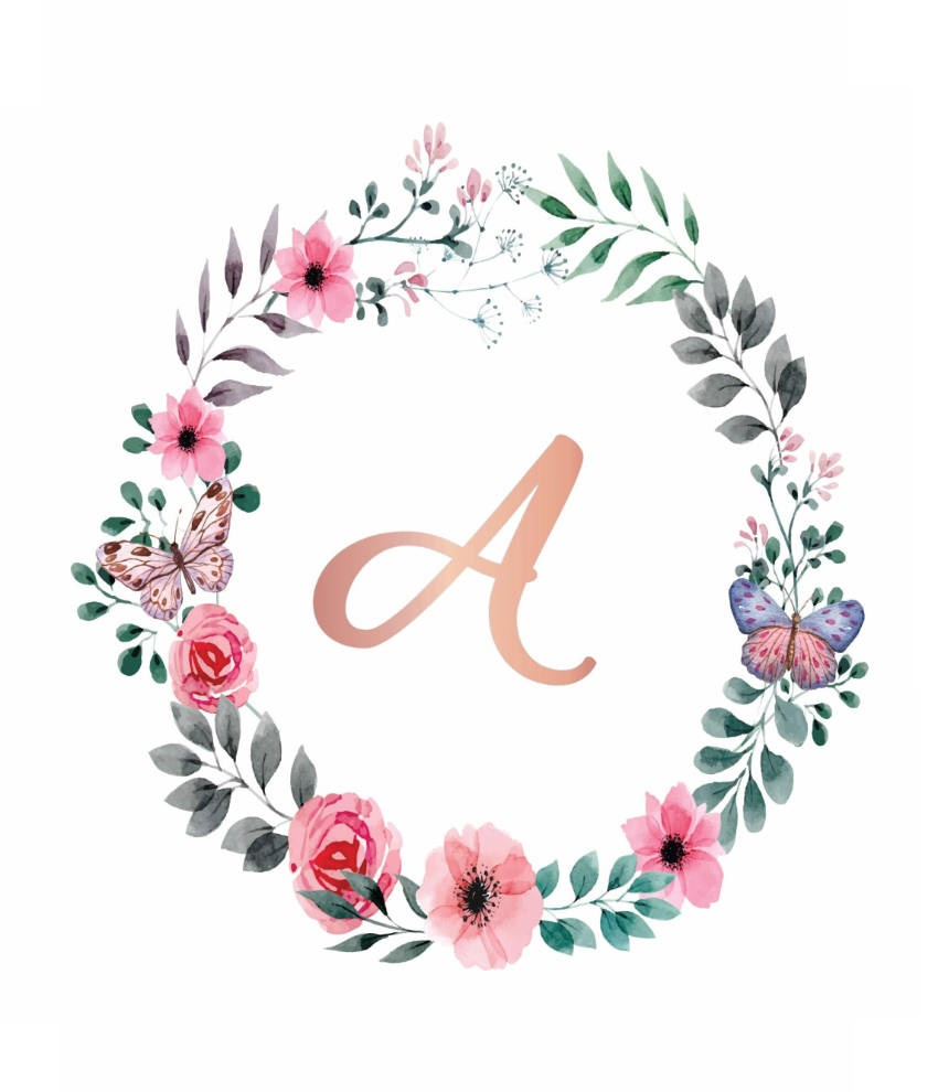 You can also just use the letter and add real flourishings around it to make it extra special.