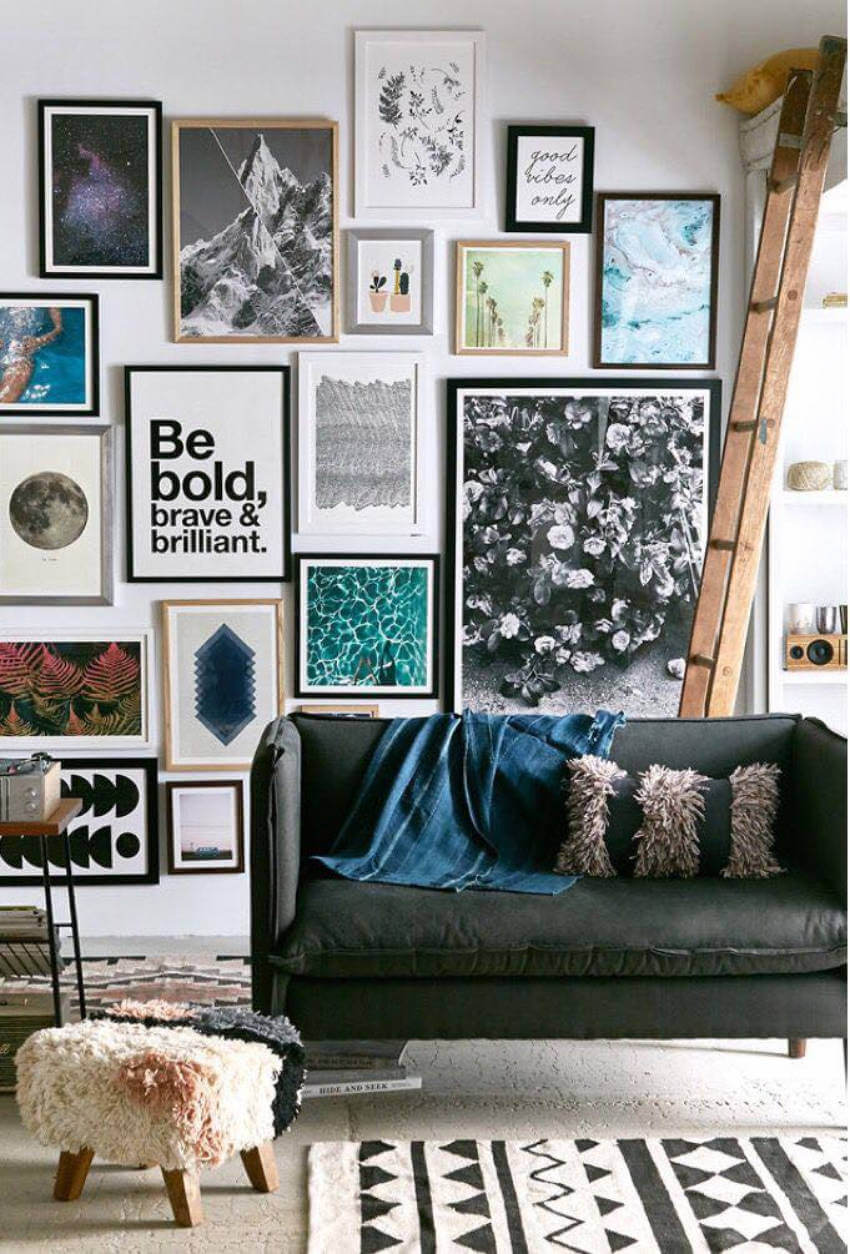Mix and match printables to create a beautiful gallery wall!