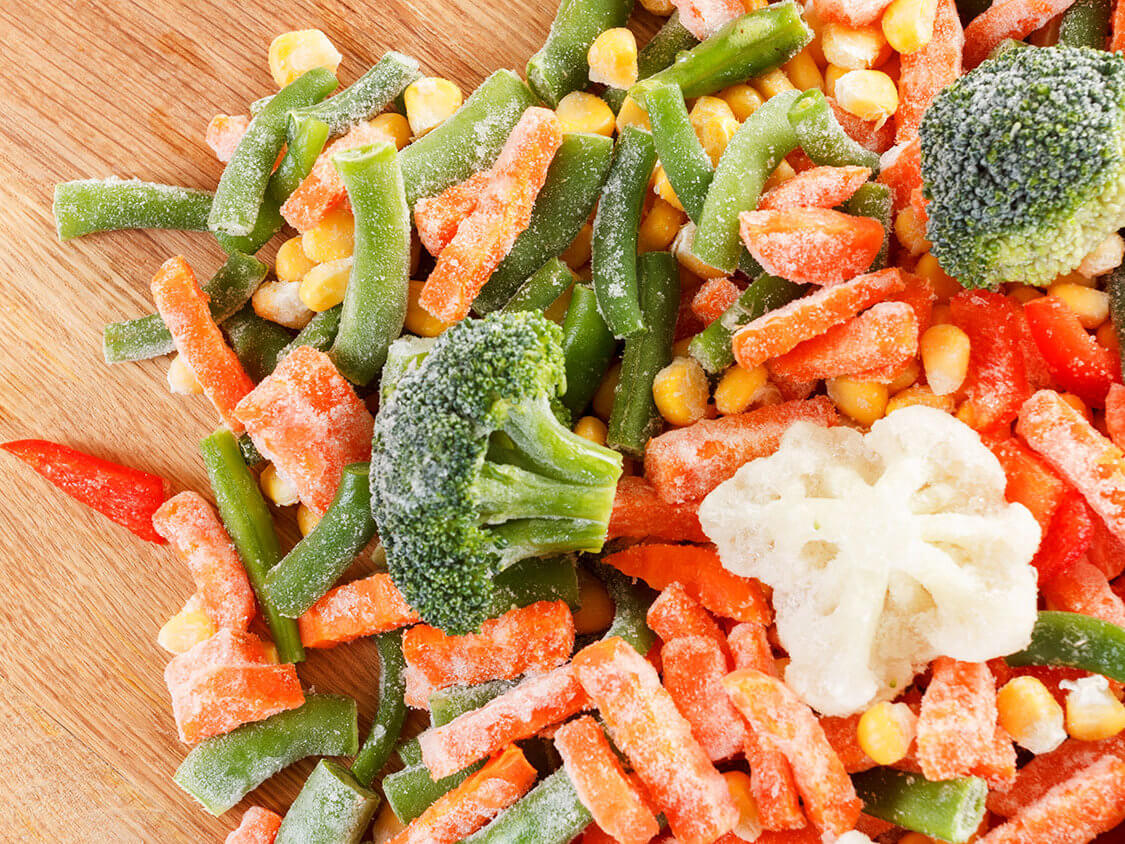 Veggies actually don't lose a lot being frozen.