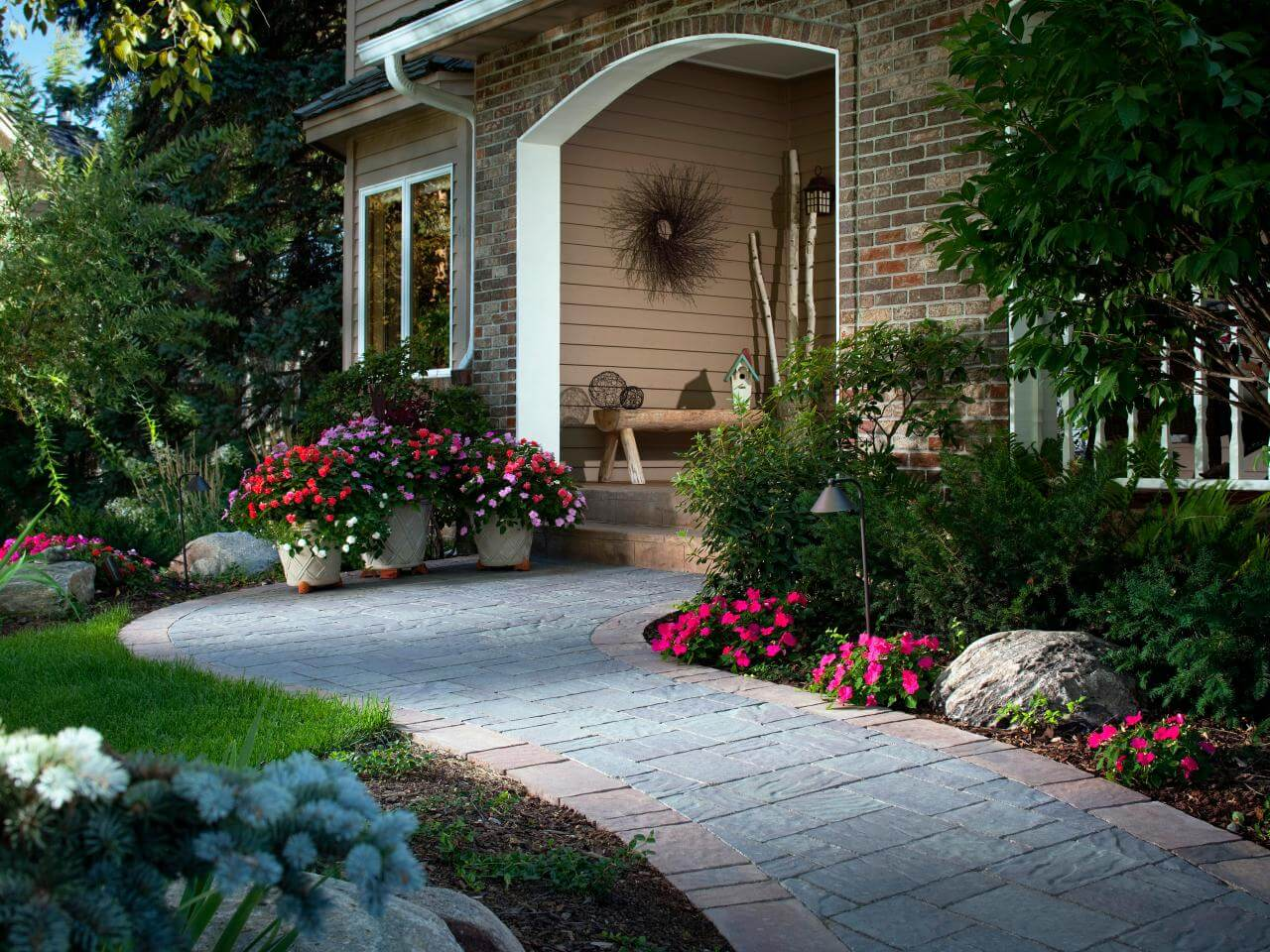 Imagine what pavers and plants can do for your front yard