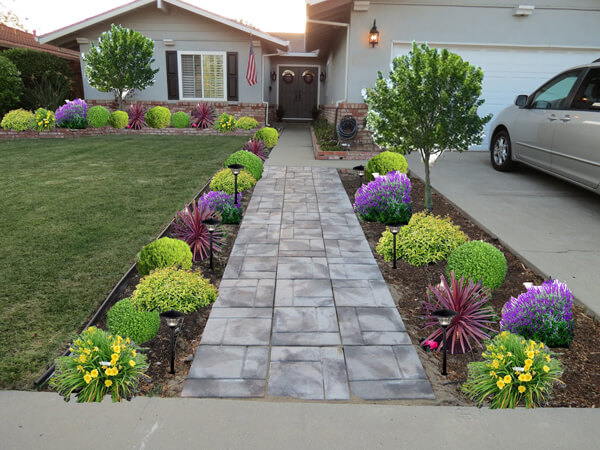 The right way to decorate a front home garden