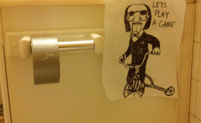 Toilet Paper Saw Reference