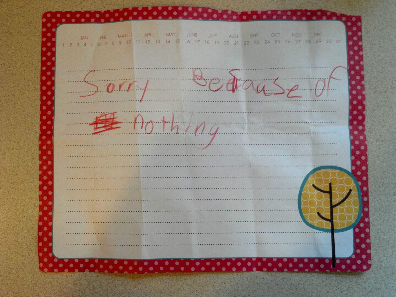 Honest, sincere letter.