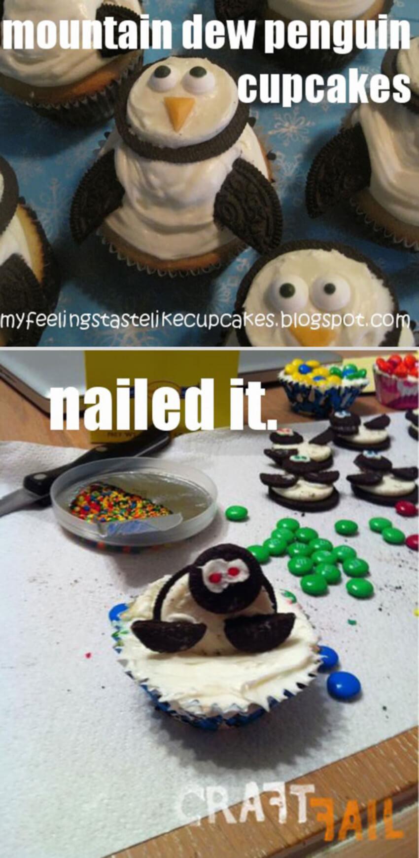Penguin cupcakes.