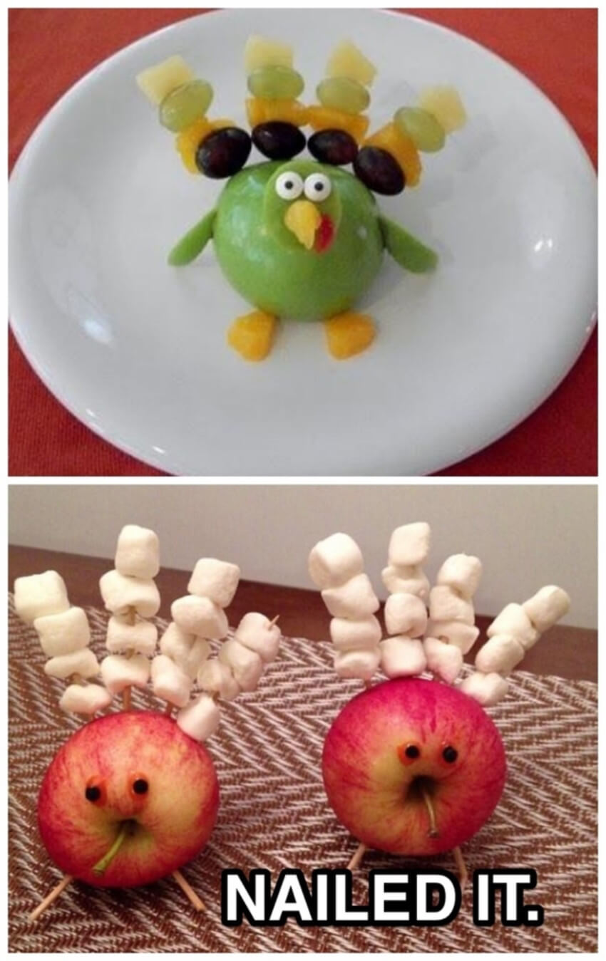 Fruit turkey.