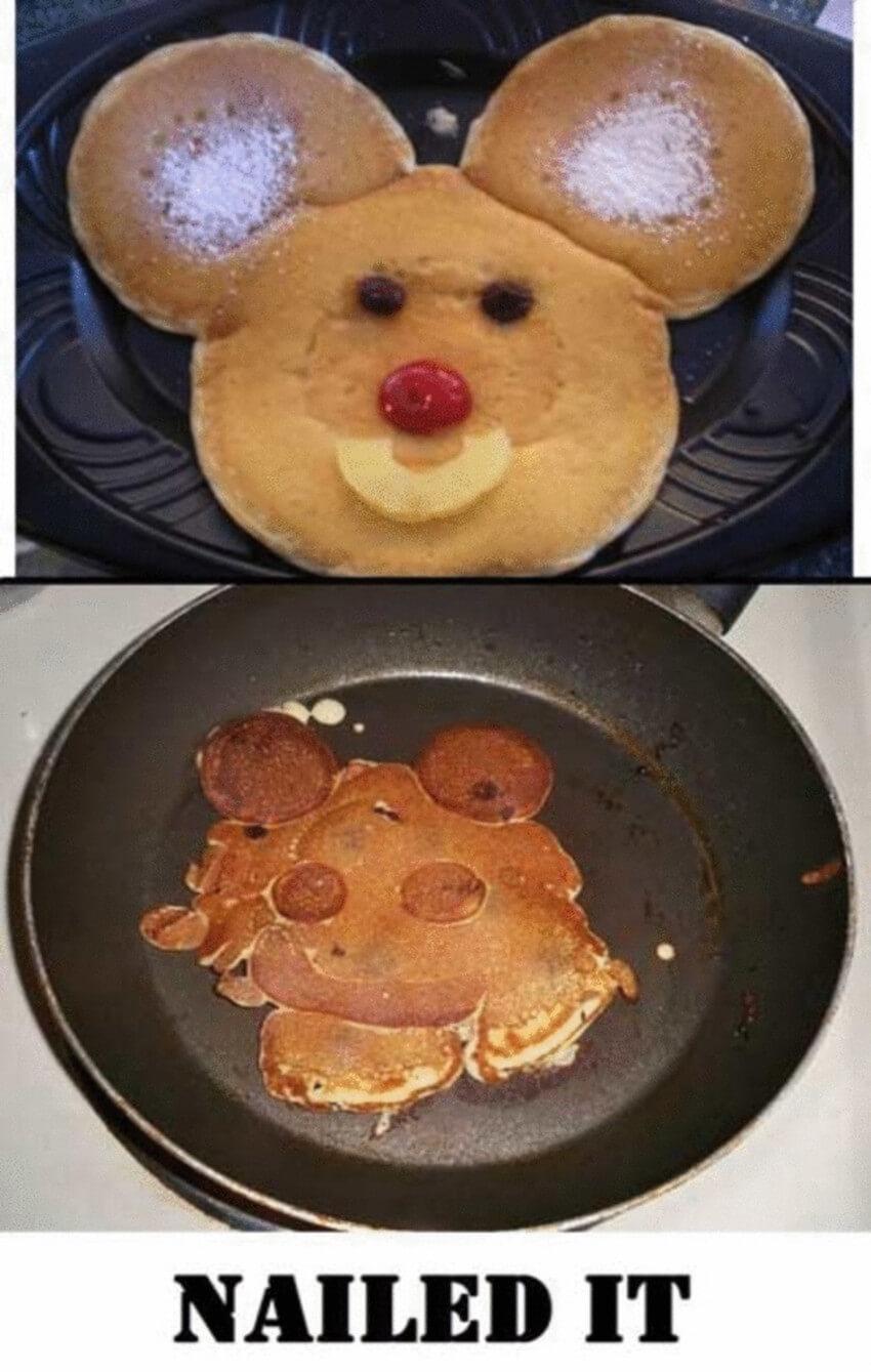 Creepy pancakes.