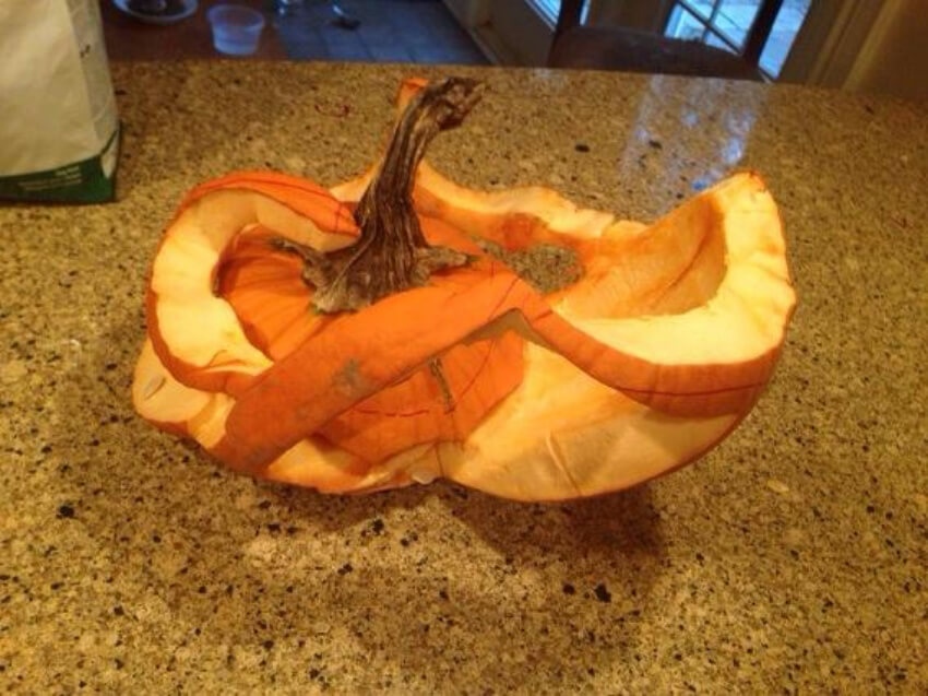 """If the person was going for """"roller coaster this is actually some pretty good carving."""