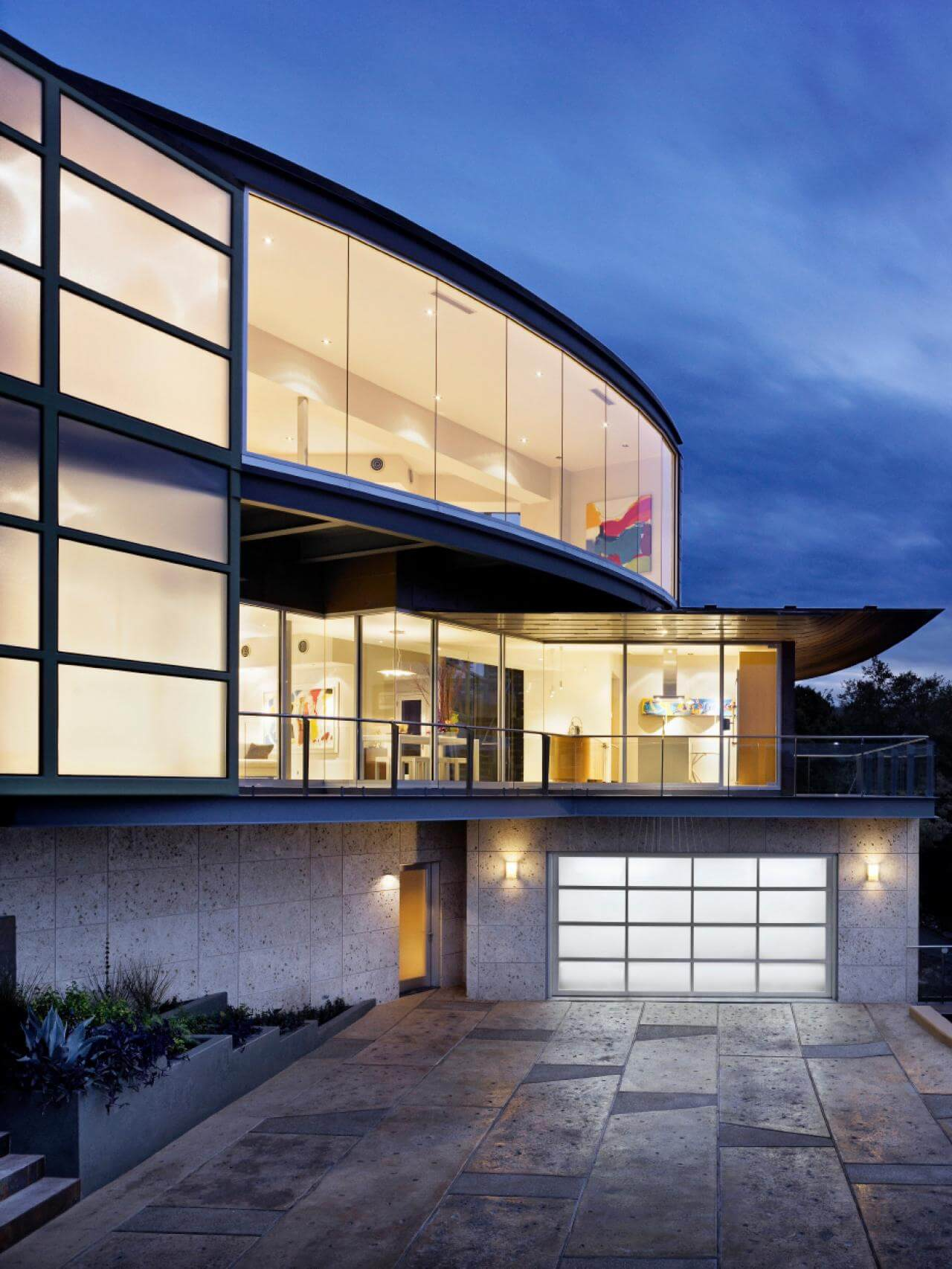 Crazy glass garage features