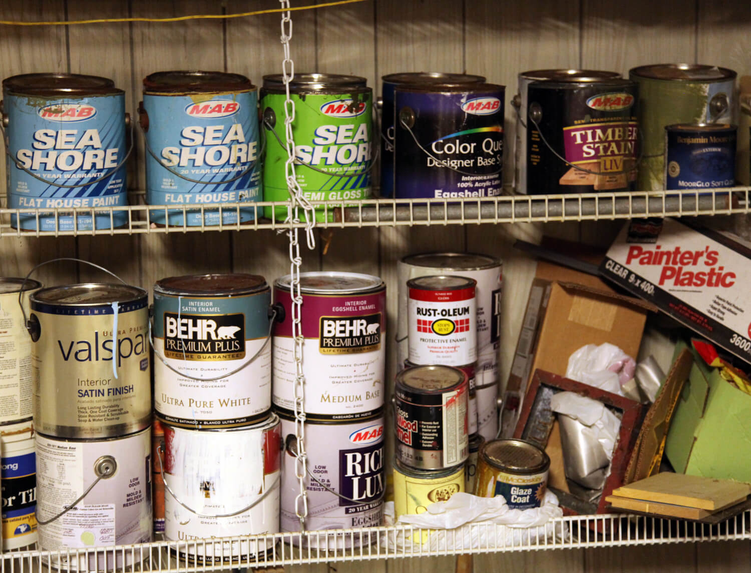 Old paint can also be sent away