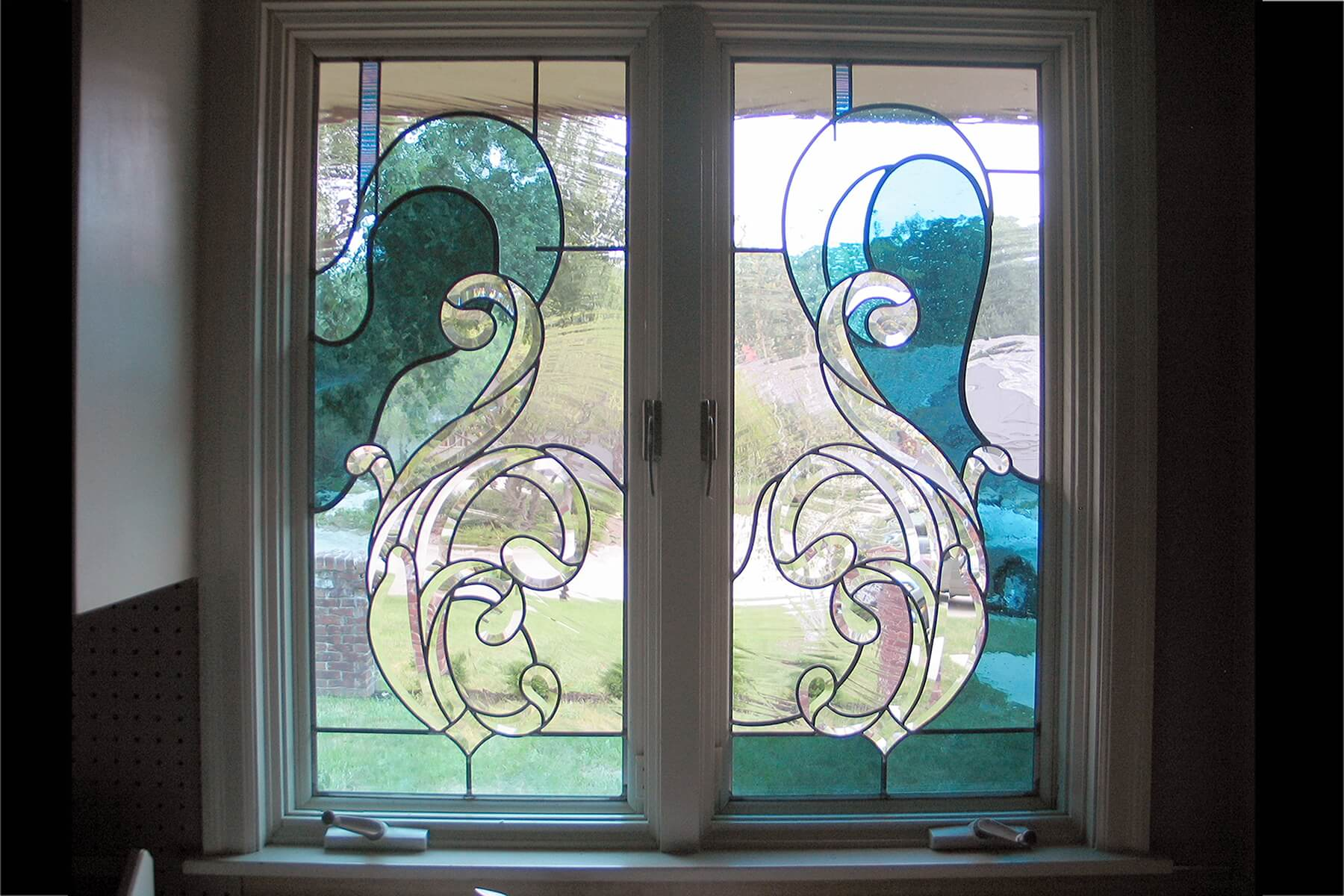 Incredible stained glass window treatments really make for a stunning display