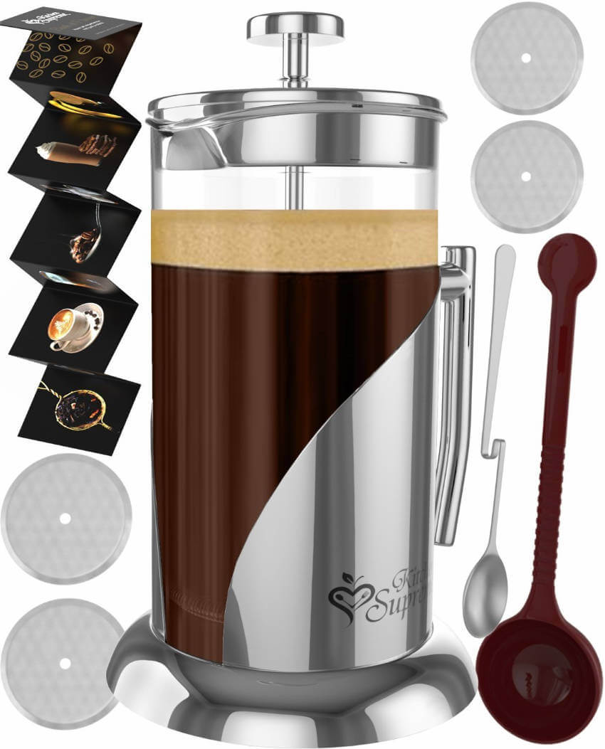 French coffee and tea maker