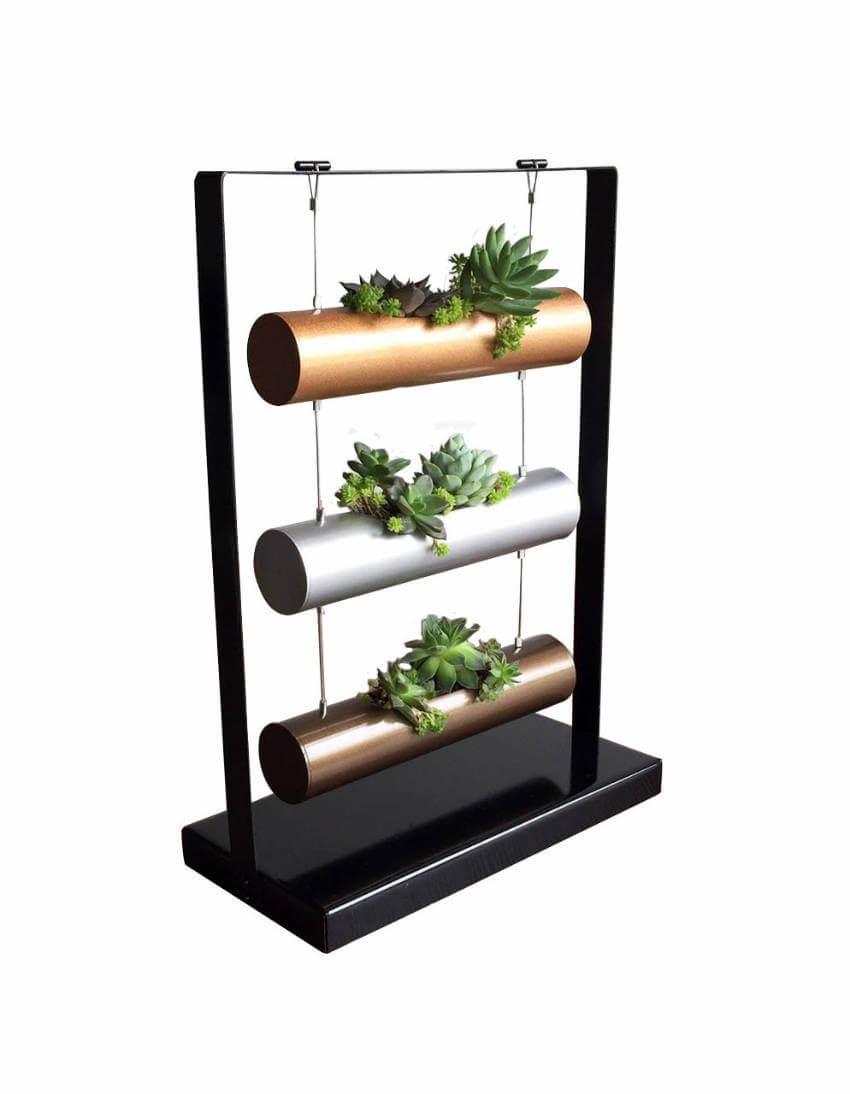 Vertical garden cylinder planter