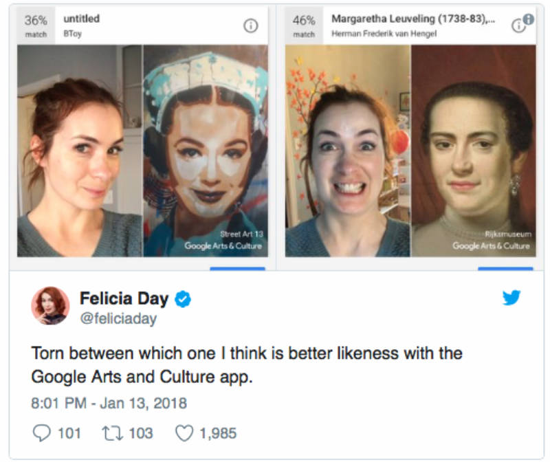 Felicia Day's Twitter post.