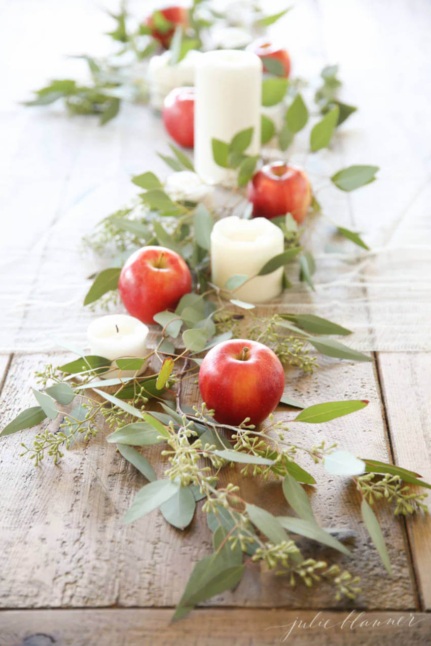 Apples are easy to find and make a beautiful decor!