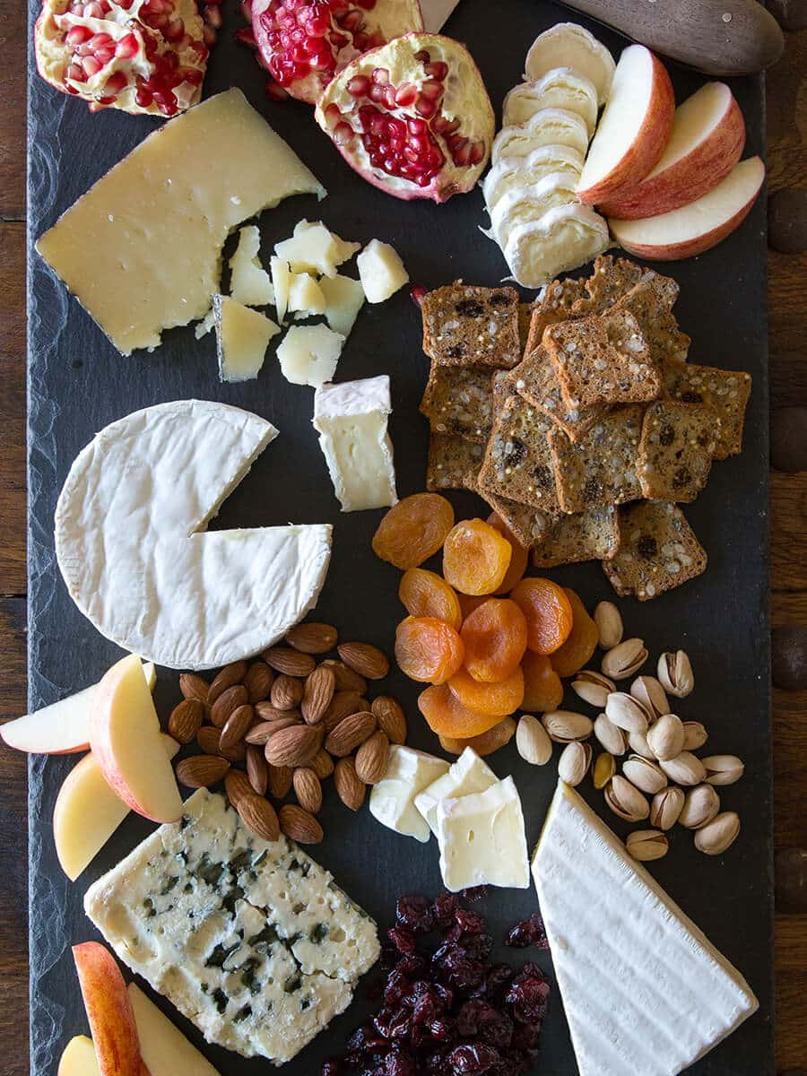 Draw the eye away from clutter and over to a fancy cheese plate
