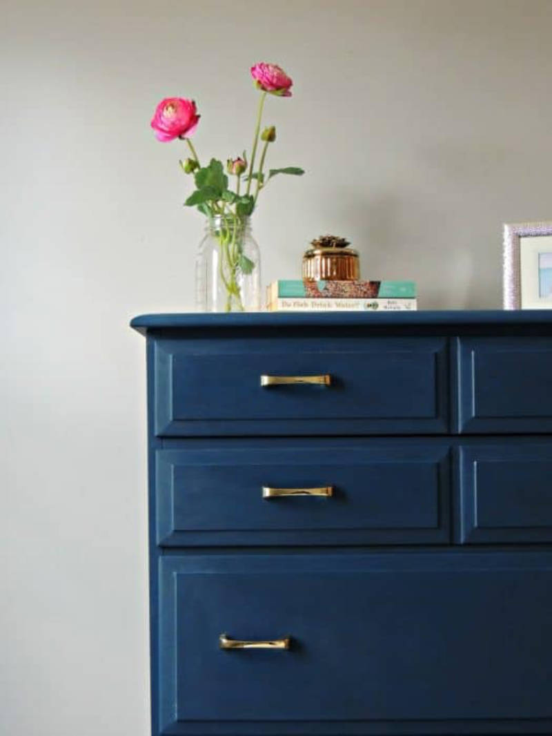 How about painting your old furniture?