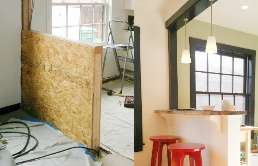This before and after looks impressive even though it's so simple!