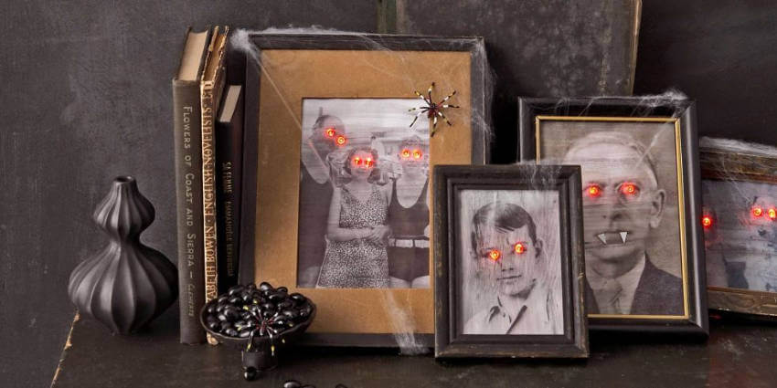 Make your interior have that Halloween feel with spooky portrait decor!