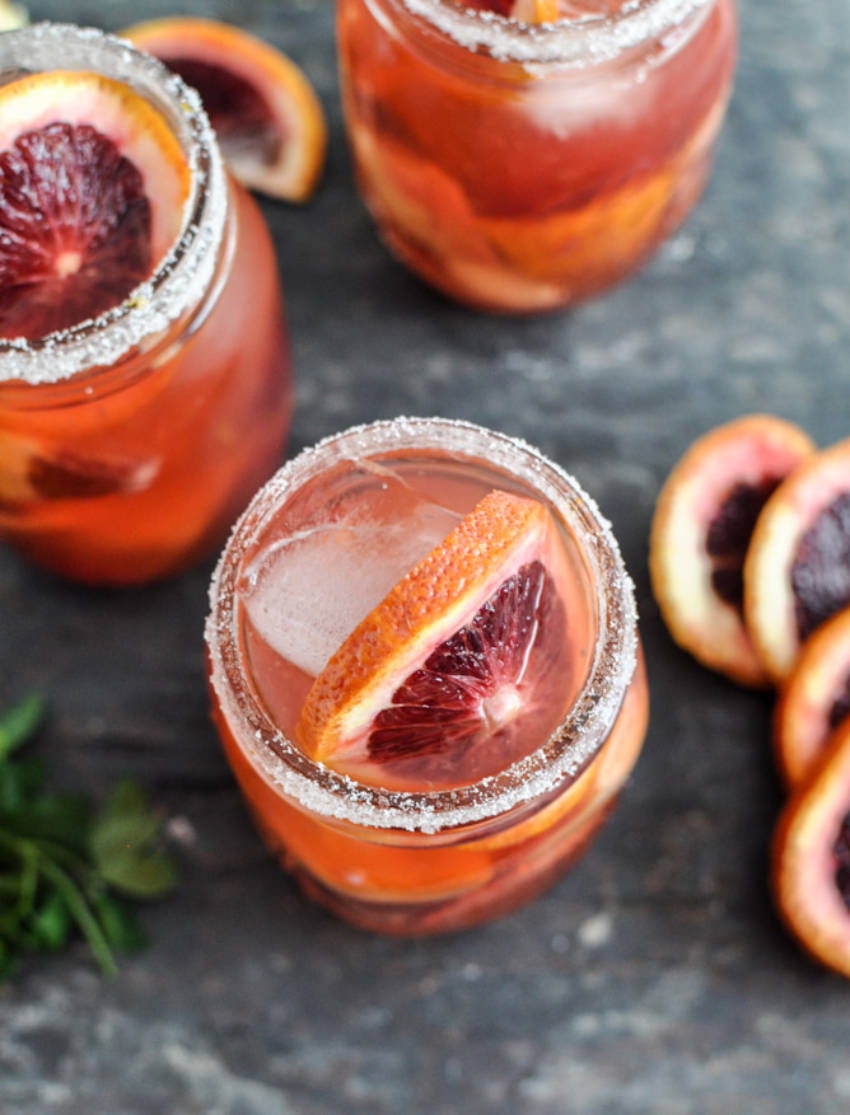 Make good use of your blood orange sangrias.