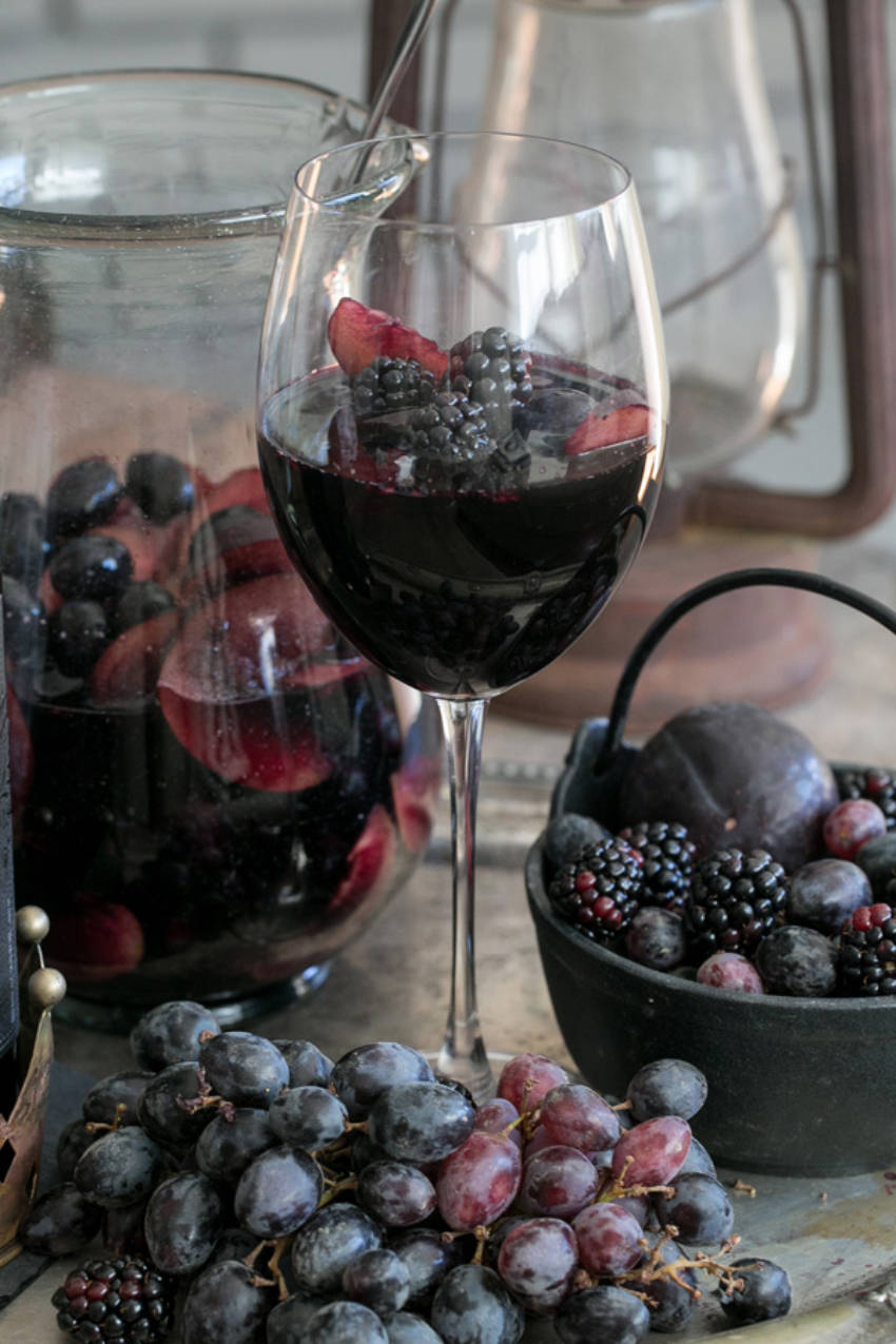 A sangria as dark as the night!
