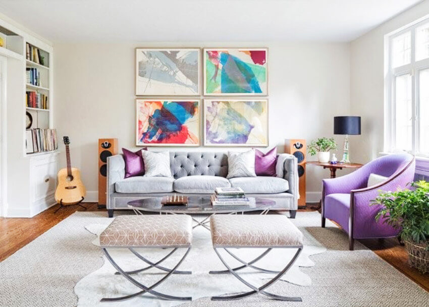 Lots of color can cheer up the mood in your home!