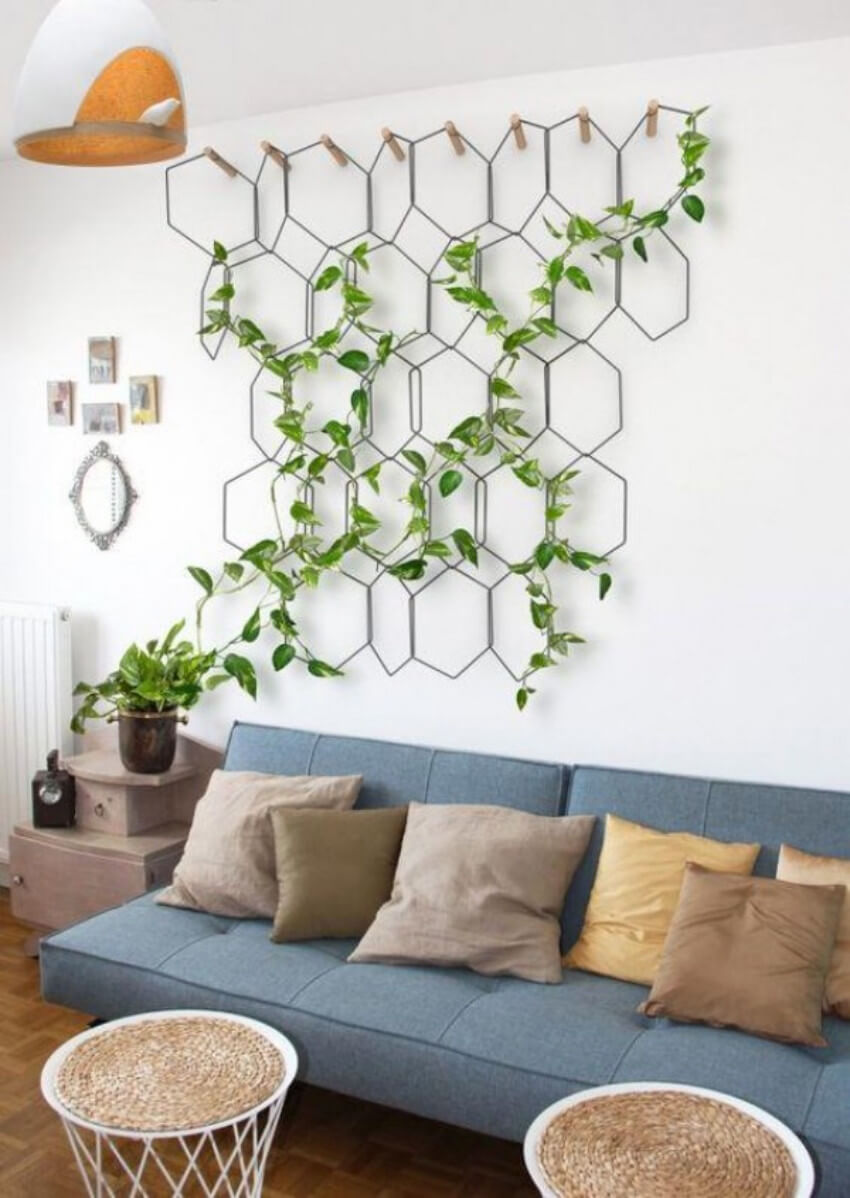 An indoor garden will bring in a fresh, natural feel into your home!