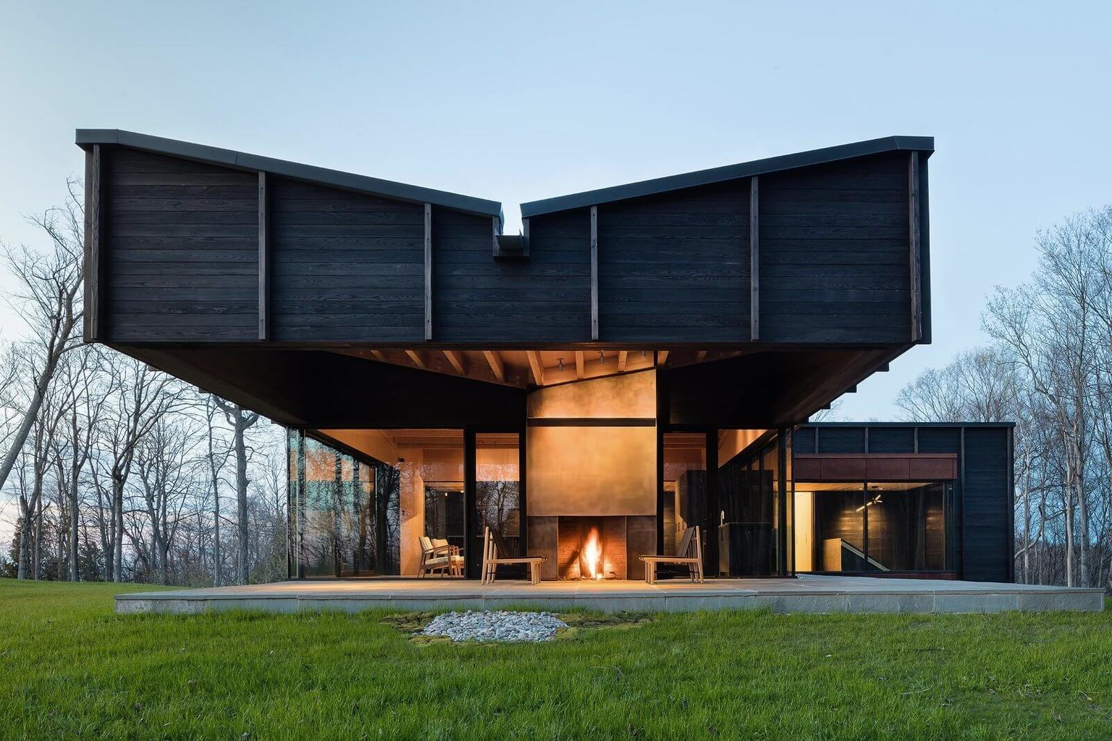 AN entire house with shou sugi ban wood