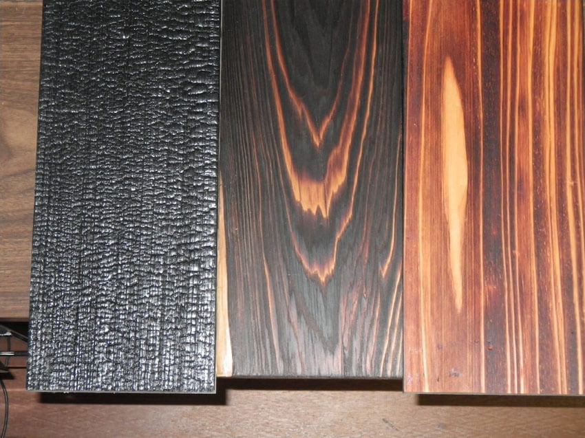 You can really see the difference in the wooden boards