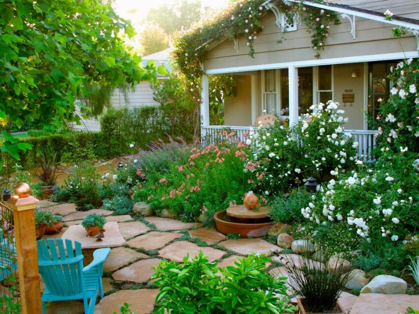 Hardscaping is all about combining materials and greenery.