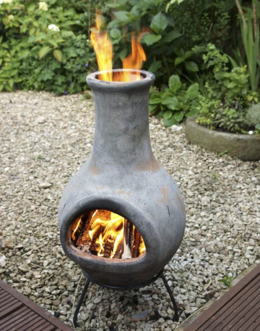 A small, portable fireplace will also do wonders for your yard!