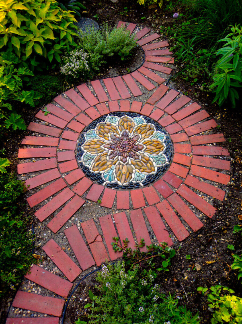 You can also turn your stepping stones into works of art!