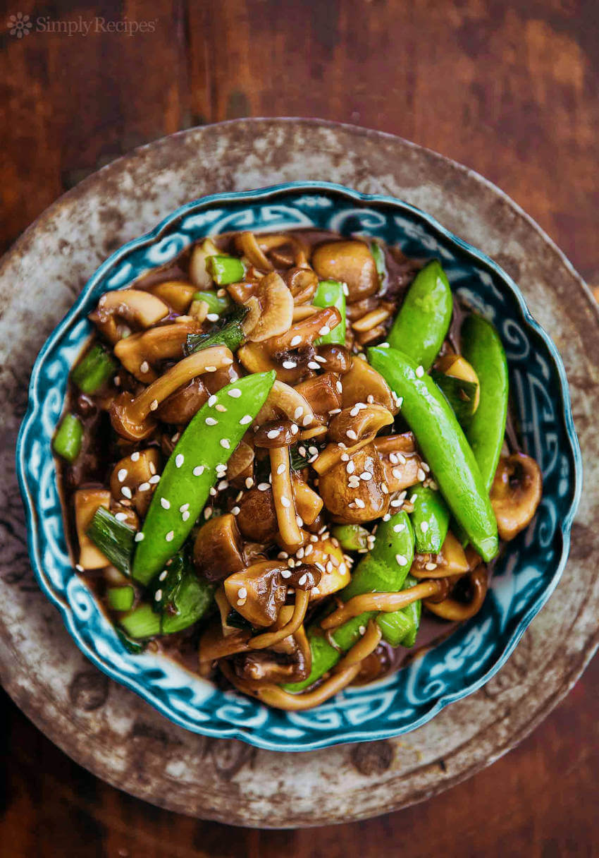 Mushroom stir-fry.