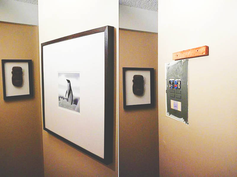 Cover a breaker box with a painting!