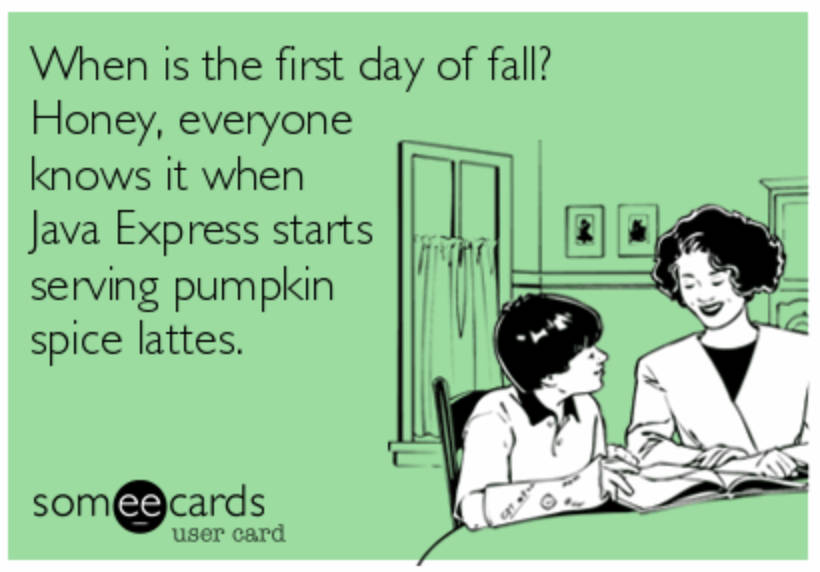 The real first day of Fall.