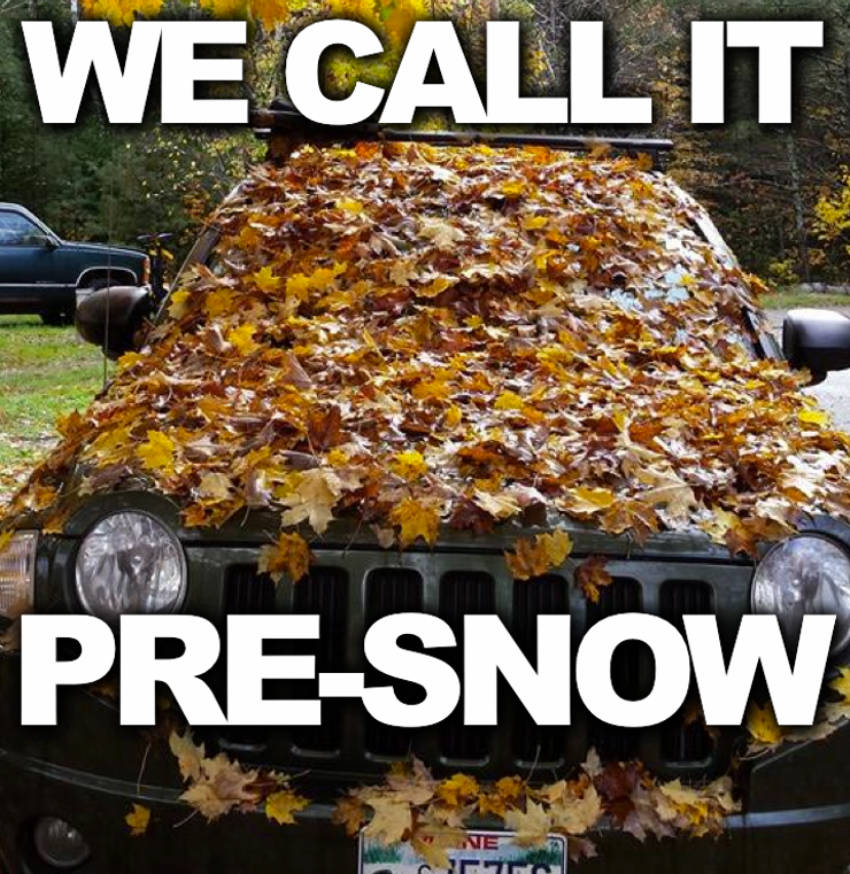 This is what snow looks like during Fall.