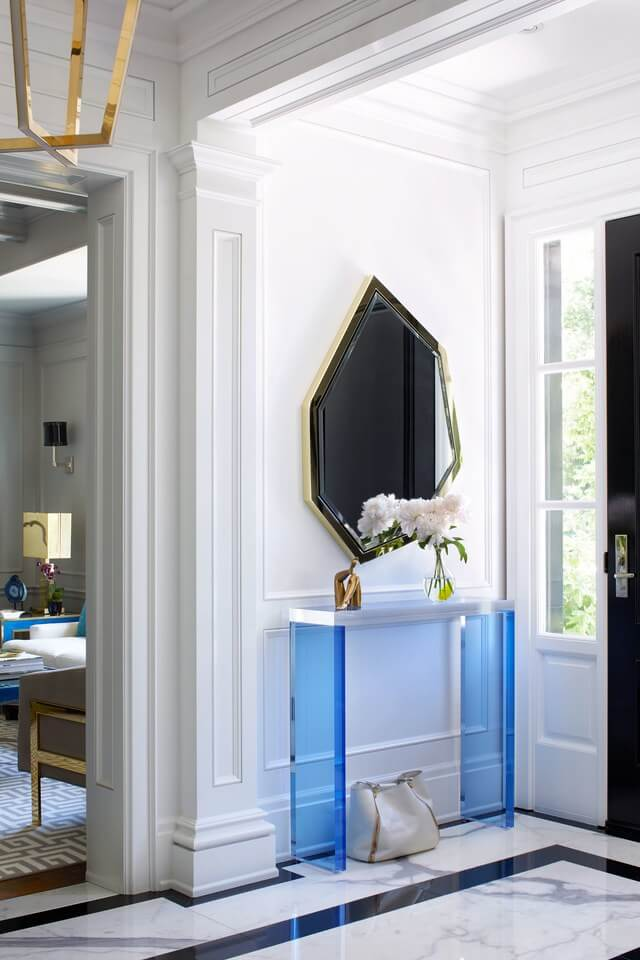 Whether it's big as a dark wall or small as a mirror framing, pros bring the WOW factor.